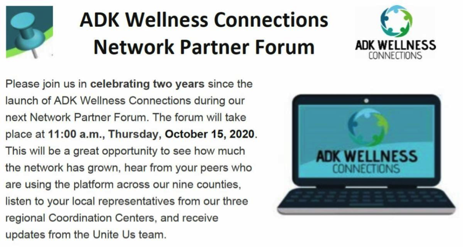 ADK Wellness Connections Network Partner Forum October